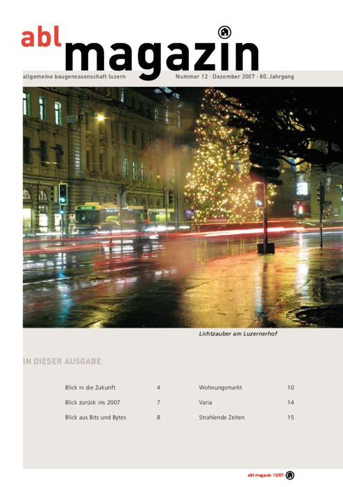 magazin Dezember 2007